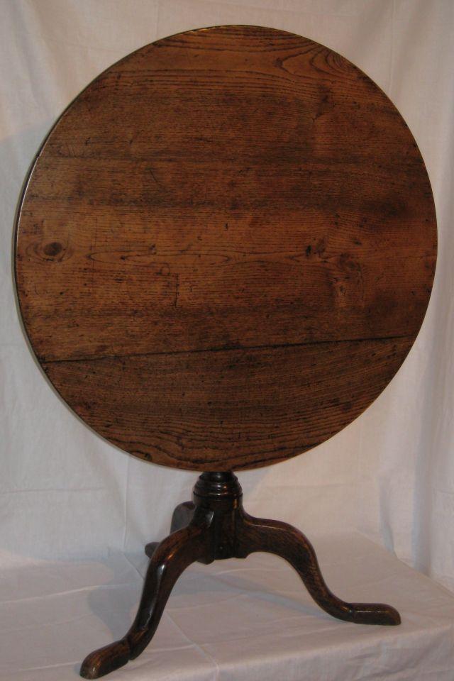 Faded Elegance Antique Dealer Harrogate 19thc Oak Tilt Top Tripod Table