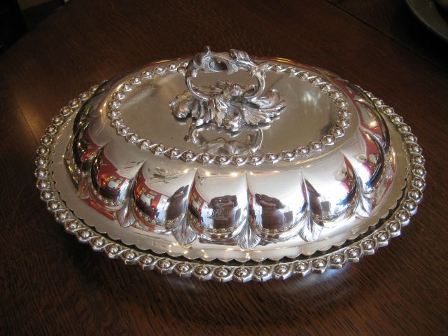 An antique silver plated entree dish & Faded Elegance Antique Dealer - Harrogate - An antique silver ...